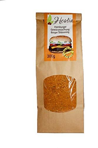 Hestia Americana Burger Condimento In Polvere Macinato Mix Di Spezie Per Hamburger, Carne Macinata, Polpette, Cotolette, Burger Verdura condire, Spezie di carne allround, 300g