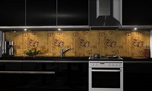 """Küchenrückwand Folie selbstklebend \""""Holzoptik\"""" Klebefolie Dekofolie Spritzschutz Küche verschiedene Größen"""