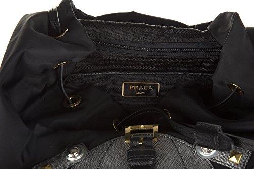 1BZ032NEROCROMO Prada Sac à dos Femme Tissu Noir Noir