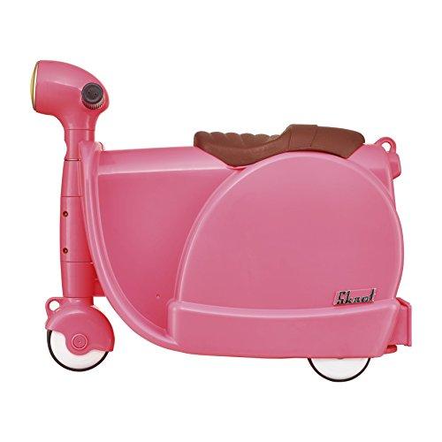 Skoot Moto Valigia per Bambini, Skoot, Rosa Fragola, 13 Litri, 46 cm