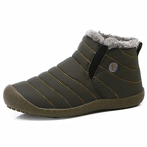 SITAILE Herren Damen Outdoor Knöchelhoch Slip on Komfort Boots Stiefel für Winter,grau,44