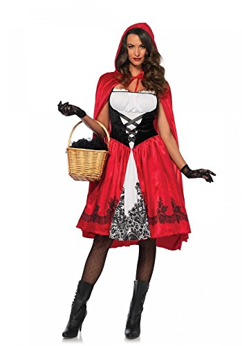 CLASSIC Red Riding Hood Damen Kostüm mit Cape von Leg Avenue Rotkäppchen Märchen , (Hood Kostüme Red Sexy Halloween Riding)