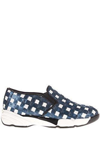 PINKO donna slip on 1H207H Y23Z H71 SEQUINS Bianco/Blu