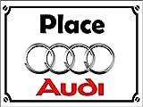 GRAVOPHOTO - Placca Decorativa in Alluminio, 15 x 20 cm, per Audi
