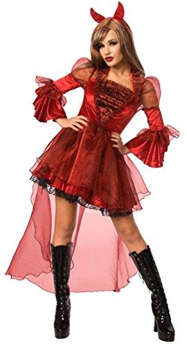 Karneval-Klamotten' Sexy Teufelin Kostüm Dame Halloween Teufel Damenkostüm inkl. Teufelshörner Größe (Baby Satan Kostüm)