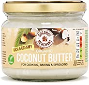 Organic Coconut Butter (300g) Great for Cooking and Baking | Zero Cholesterol| Vegan | Low GI | Ethically Sourced