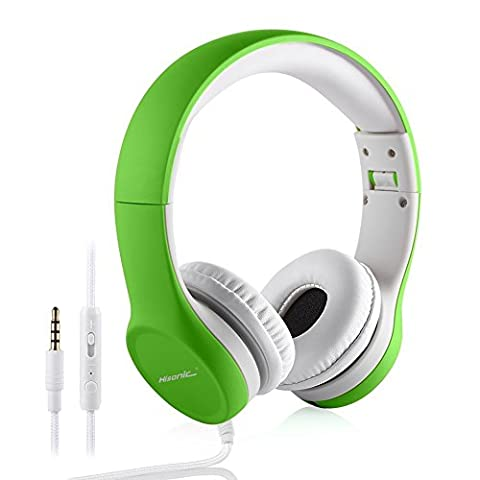 Kids Foldable Headphones Volume Limitied Hisonic Earphone wired Headset with ShareConnector for Boys Girls children TM-960