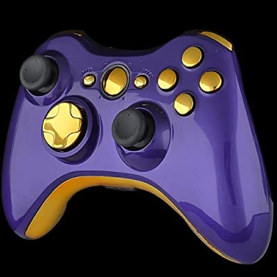 Official Xbox 360 Wireless Controller - Piano Purple with Gold Buttons