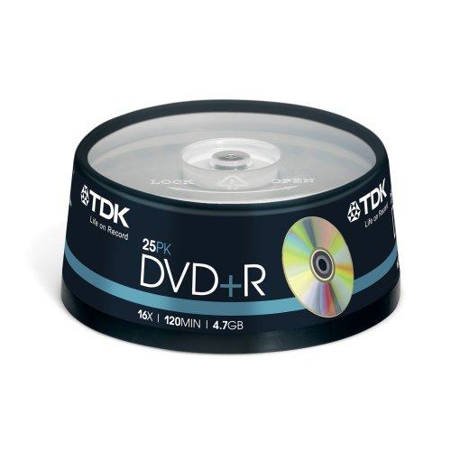 Tdk dvd+r 47 4.7gb - confezione da 25