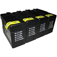4 Black CiberDirect High Capacity Compatible Ink Cartridge Replacements for Brother LC1280BK.