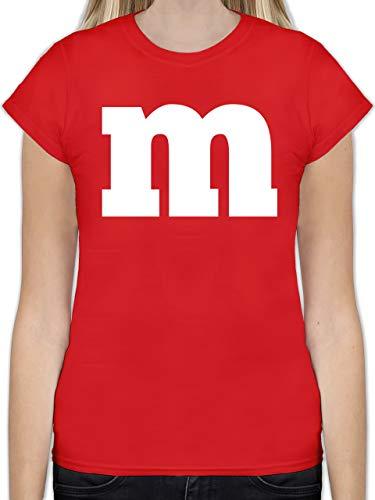 Karneval & Fasching - Gruppen-Kostüm m Aufdruck - M - Rot - L191 - Tailliertes Tshirt für Damen und Frauen T-Shirt