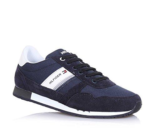 tommy-hilfiger-scarpa-stringata-blu-in-crosta-e-tessuto-con-inserti-bianchi-in-pelle-lacci-elastici-