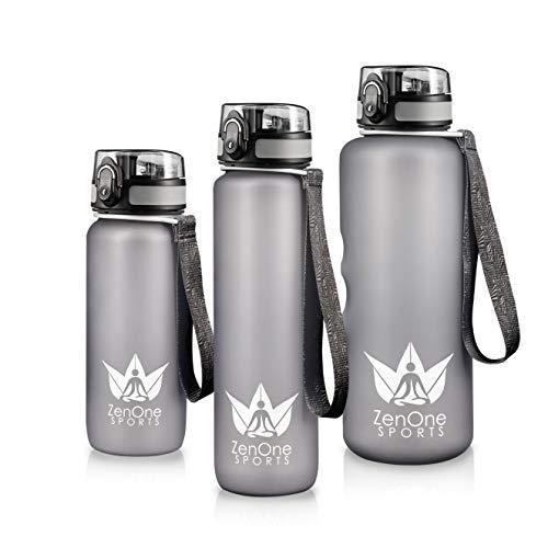 Trinkflasche Sport ZenBottle - 1,5L I Auslaufsichere Wasserflasche aus Tritan I Sport-Flasche mit Fruchteinsatz BPA-Frei I Fitness, Fahrrad, Schule, Wandern