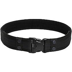 Cinturón táctico para Hombres, YouGer Cinturón para policías de Combate de Combate Ajustable con Hebilla de liberación rápida para Caza al Aire Libre, Senderismo (Negro)