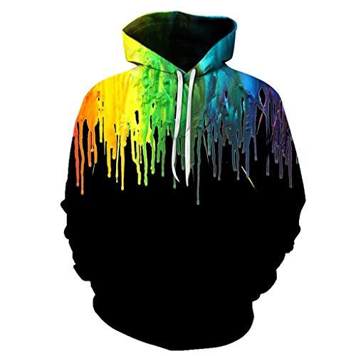 Aoogo Herren 3D Print Hoodie Langarm Brief drucken Pullover Hoodie Sweatshirt Kapuzenjacke