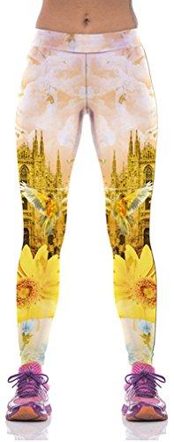 Belsen - Legging - Femme multicolore tigre M Golden Castle