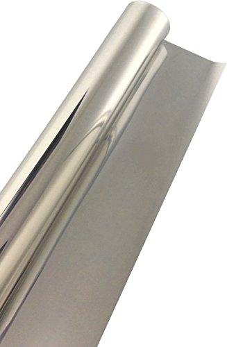 76 x 300 cm Lönartz Universal Spiegelfolie, Sonnenschutzfolie Sichtschutzfolie, 99% UV-Schutz, 78% reduzierte Helligkeit, kratzfest, Materialstärke 50µ, selbstklebend (SPF-76-3)