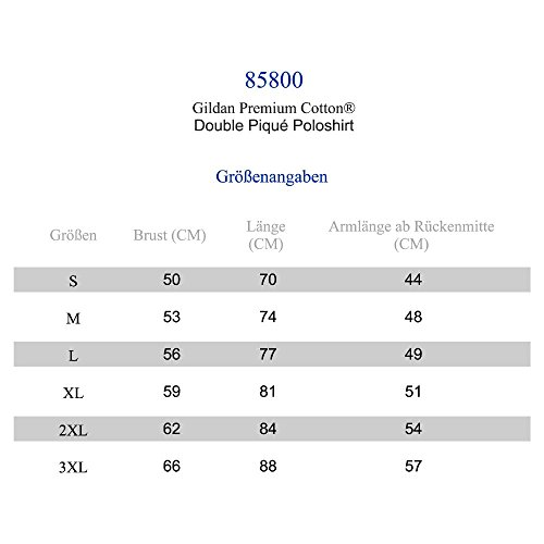 Gildan Herren Premium Double Piqué Polo Sport Grey