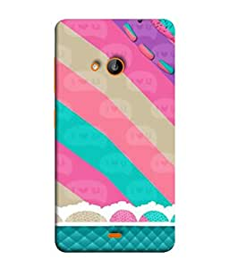 PrintVisa Designer Back Case Cover for Microsoft Lumia 535 :: Microsoft Lumia 535 Dual SIM :: Nokia Lumia 535 (Love Strip Candy Colourful Fabric )