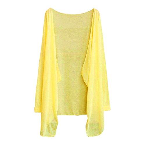 Kword Donne Estate Lungo Cardigan Sottile Modale Protezione Solare Abbigliamento Top E