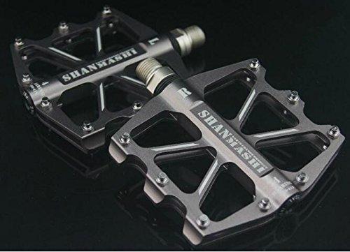 upanbike 4versiegelte Kugellager Pedale für Mountain Bike Road Fahrrad Aluminium flach Plattform, titan