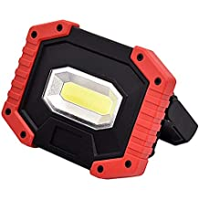 PUAO COB Exterior lámpara de Trabajo, portátil LED lámpara de Trabajo Foco Doble Puerto USB