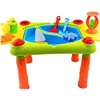 Inside Out Toys Sand and water play table 2 in 1 Large Size with Hinged Lid