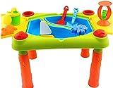 Mesita para jugar con agua y arena - 2 en 1 - Con tapa abisagrada -...