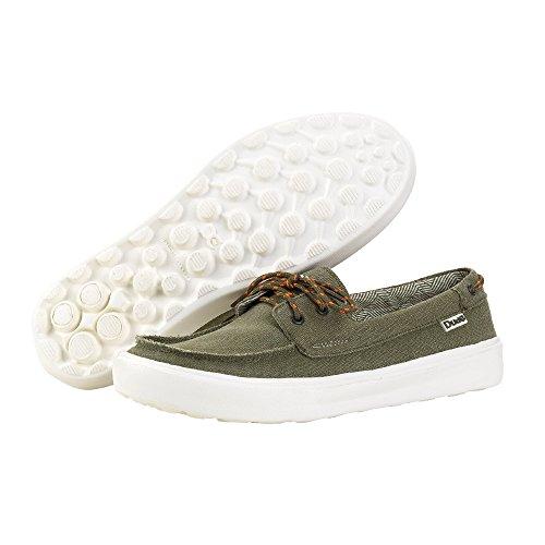 Dude Shoes Mens Kola Musk Canvas Deck Shoe green