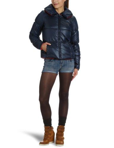 Vero Moda - Cappotto Moda, Manica corta, Donna, Blu (Blau (DARK NAVY / HIBISCOUS)), S
