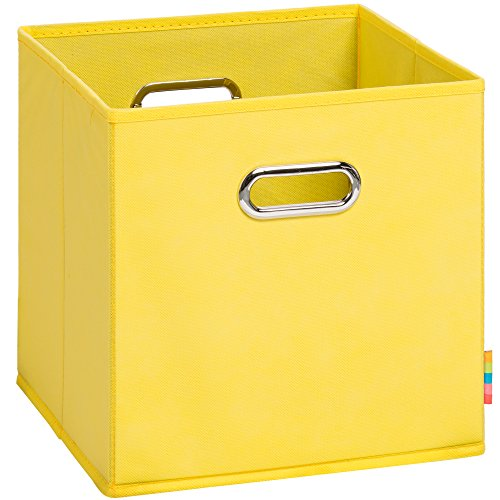 Schmetsdorf (H&S) Aufbewahrungsbox MIA - Faltbox - Korb - 28x28x28 cm (Gelb)