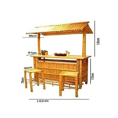 Set Bar Stool With Bamboo