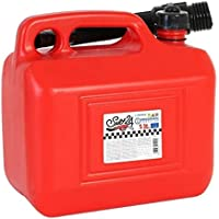 Red Plastic Petrol Jerry Can Container For Storage Fuel Diesel Oil Container Can Canister With Flexible Pouring Spout…