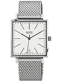 Dugena Herren-Armbanduhr Dessau Carrée - Modern Classic Analog Quarz Edelstahl 7090140