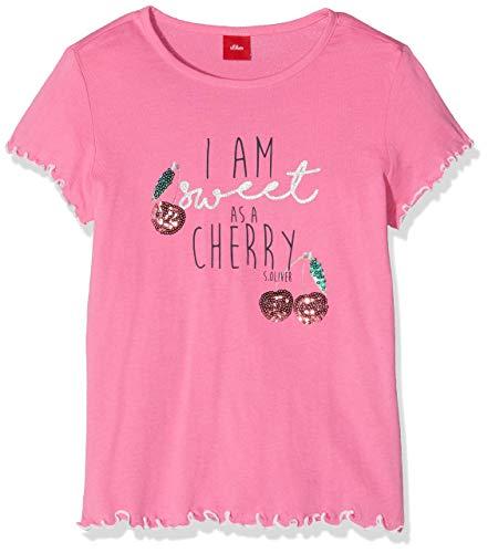 s.Oliver Mädchen T-Shirt 53.901.32.5755 Rosa (Pink 4420) 104 (Herstellergröße: 104/110/REG)