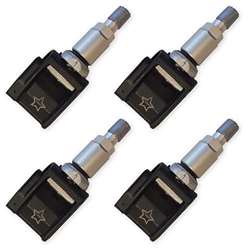 6308 Lot de 4 capteurs de pression de pneus pour BMW Série 5 6 7 X3 Système de contrôle de pression des pneus