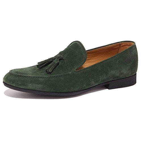 9130P mocassino uomo J. HOLBENS suede verde scarpa shoe men suede green [42]