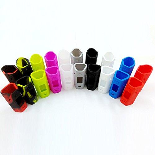 DIY-24H - 2x Schutzhülle für Wismec Reuleaux RX2/3 Box Mod 150W / 200W Silikon Silikonhülle Case Silicone Bumber Cover (Rot) (Diy Box Mod)