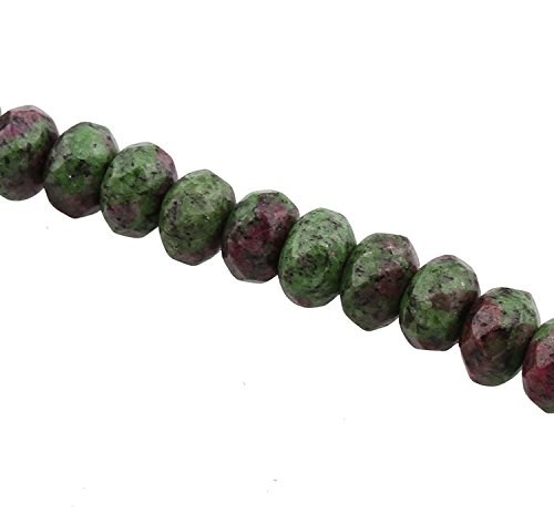 Ruby 3 Ring (Perlin - 45stk Rubin in Zoisit Ruby in Zoisite Edelstein Perlen 8mm Schmuckstein Facettierte Rondelle Halbedelstein Edelsteine Schmuckperlen Gemstone Beads G825 x3)