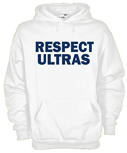 Settantallora - Felpa Con Cappuccio KU106 Respect Ultras Bianco