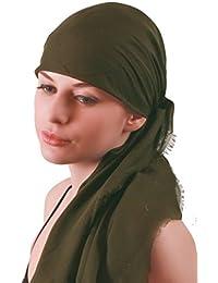 Foulards carrés | Plaine ultra doux coton (1mx1m) pour Perte de Cheveux, Cancer, Chimio