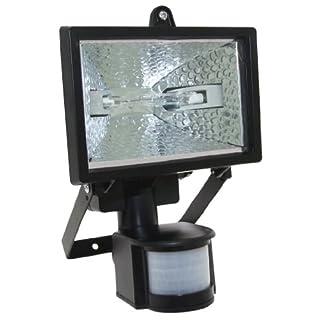 150w Halogen Floodlight Security Light With Motion Pir Sensor + 2 Bulbs
