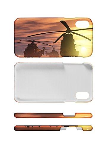LEotiE SINCE 2004 Handy Schale passend für iPhone 8 Retro Motiv Hubschrauber (Hubschrauber I Phone)