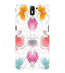 Takkloo flower full pattern colourful pattern,trendy pattern, beautiful pattern) Printed Designer Back Case Cover for OnePlus One :: OnePlus 1 :: One Plus One