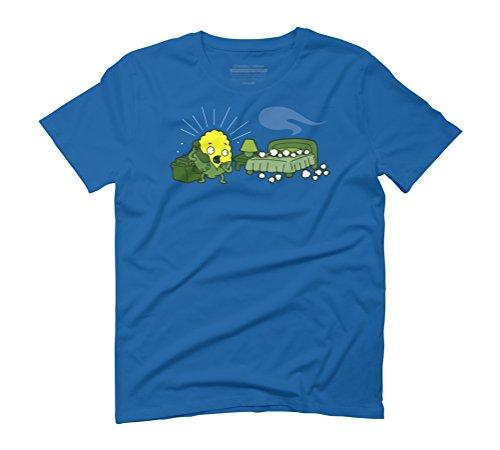 Spontaneous Corn Combustion Men's Large Royal Blue Graphic T-Shirt - Design By Humans