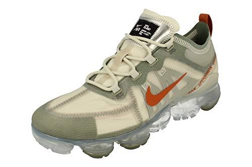 Nike Men's Air Vapormax 2019 Running Shoes (7 M US, Vintage Lichen/Dark Russet-Light Bone)