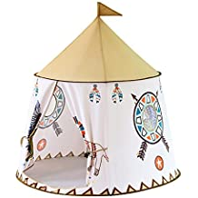 Sharplace Tienda de Campaña Infantil Casas de Juegos Estilo Indios Norteamericanos Plegable para Niñas Niños -