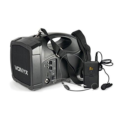 Vonyx ST012 tragbares PA Funk-System Body-Check-Mikro SMT USB BT MP3 12 Vdc Akku (Funk-mikrofon Usb)