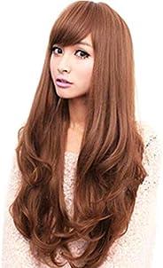 Fluffy Long Curls Slightly curled Wig V108-01