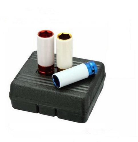 beishuo 3PCS CR-MO 1/5,1cm drive17mm 19mm 21mm Legierung Rad Impact Nuss Socket Set